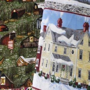 Casas. telas de casas