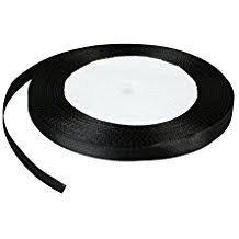 Lazo negro de raso 6 mm.Manubens