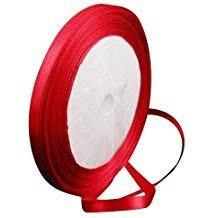 Lazo rojo de raso de 6mm
