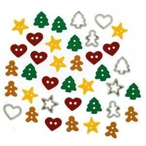 Botones de estrellas. corazones. arboles etc
