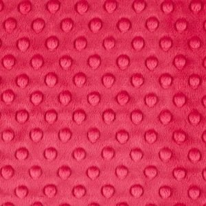 Minky en color cereza con garbanzos