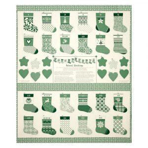 Calendario de adviento de 24 botas verdes