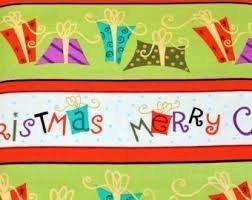 Grecas de regalos de navidad (RETAL DE 75 CM)