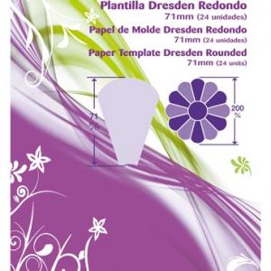 Plantilla papel de molde Dresden redondo (24 unidades)