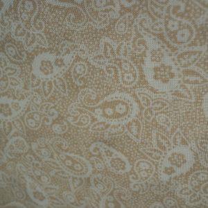 Cuadritos vichy beige y crudo (1,50)