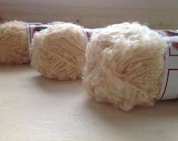 Cabello rizado blanco para muñecos