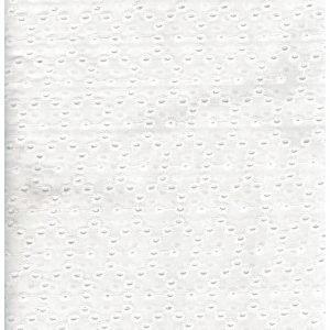 Tela blanca con círculos dobles