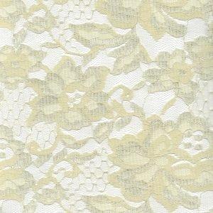 Tela de encaje en color crema con borde a ambos lados