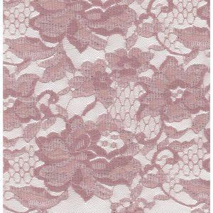 Tela de encaje color rosa palo con orilla a ambos lados (QUEDAN 70 CM)