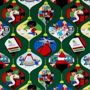 Tela de bolas de navidad con motivos dentro de Michael Miller