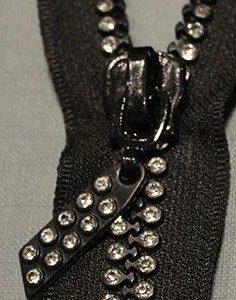 Cremallera 60 cm doble strass con separador