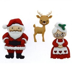 Botones de angelitos navideños y notas musicales