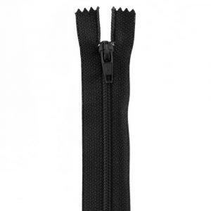 Cremallera negra normal de 18 cm