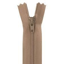 Cremallera beige nylón sencilla de 18 cm