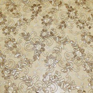 Tela de encaje en color blanco roto con orilla a ambos lados (1.50 )