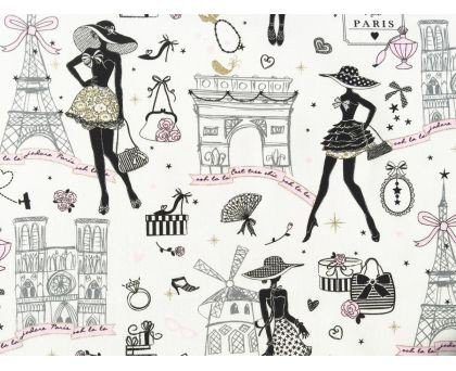 Tela de chicas de Paris sobre claro en 1.50
