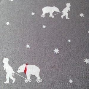 Estrellas blancas sobre rosa.Little friends.Gütermann