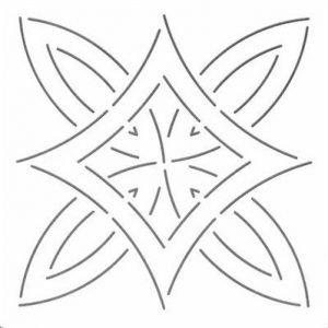 Plantilla de medallón de hojas