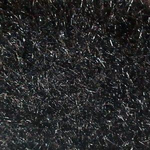 Pelo largo brillante para vestidos y jerseys en color negro