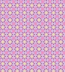 Jersey con estrellas en blanco y rosa sobre azul marino de gütermann