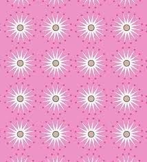 Tela de Jersey con florecitas sobre rosa de gütermann