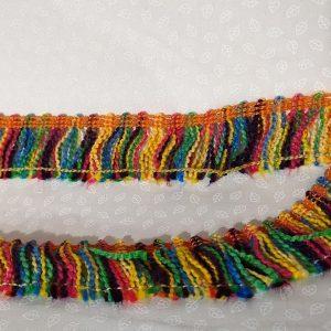 Flecos trenzados cortos beige de 2.50 cm