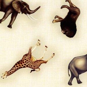 Animales salvajes sobre fondo claro
