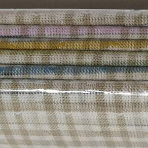 Pack de 8 telas japonesas variadas en tonos verdes