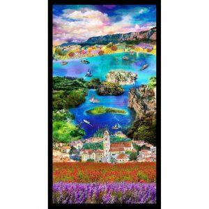 Tela del paisaje de Croacia.Ro Gregg