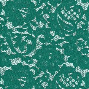 Tela de encaje verde con orilla en ambos lados