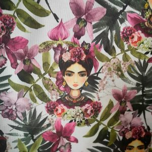 Trozo de loneta de Frida con fondo natural (70x 0.90 CM)