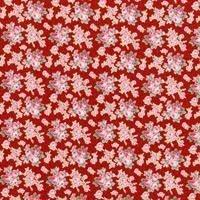 Tela de flores en rosas sobre naranja de RJR
