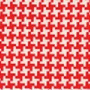 Tela de pata de gallo en rojo y blanco de Michael Miller