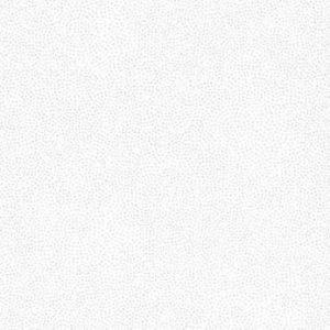 Tela de lunares de color plata sobre blanco (1,50)