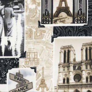 Motivos de Paris en sepia y negro