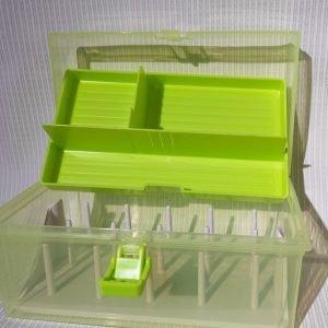 Caja organizadora de hilos, tipo maletín