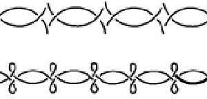Plantilla de borde lazos y motivos ondulados grande