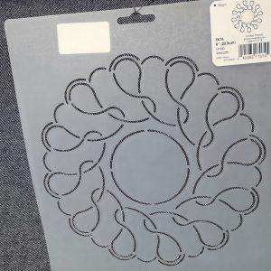Plantilla cuadrada de círculos