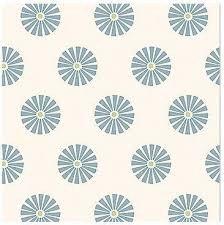 Círculos blancos sobre azul.Summer loft.Gütermann