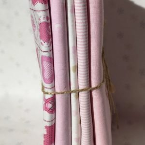 Pack de 7 telas rosas infantiles