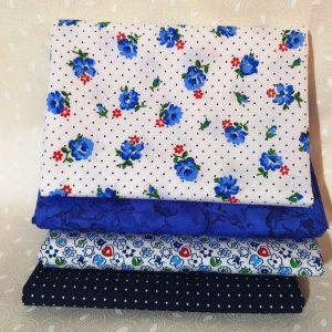 Pack de 4 telas de flores variadas