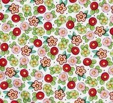Tela de golosinas de colores sobre rosa de Quilting treasures