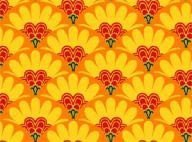 Tela de flores rosas y amarillos de Penny lane