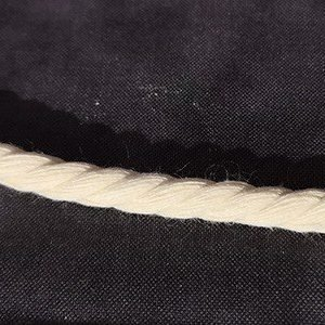 Cordón de algodón color marfil de 10mm