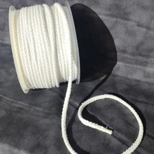 Cordón de mochila blanco de algodón 5 mm