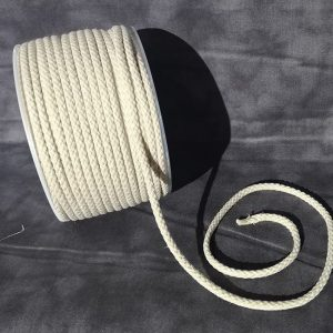 Cordón de mochila gris de algodón 5 mm