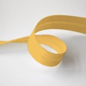 Cinta de bies amarillo fuerte de 18 mm