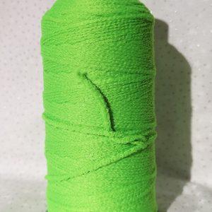 Cordón tubular elástico verde pistacho para mascarillas
