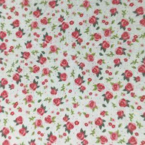 Florecitas en lila sobre blanco