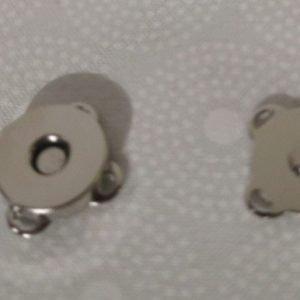 Cierre magnético coser de color plata de 19 mm